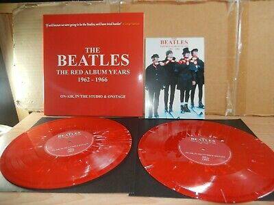 The Beatles - The Red Album Years 1962 - 1966 (MCPS) 2 X 10  Red Vinyl LP • 17£