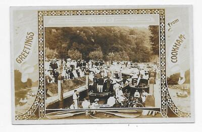Cookham Greetings, Crowded Lock Scene, Uncommon Rp. • 4.50£