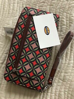 BNWT Fossil Patterned Sydney Signature Zip Clutch Multi Coloured Purse RRP £49 • 14£