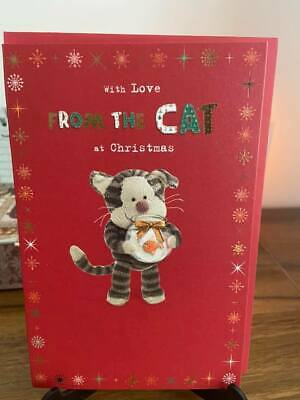 Boofle Xxx ~ With Love From The CAT At Christmas   ~ Christmas Card  • 1.95£