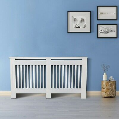 White Radiator Cover Grill Shelf Cabinet MDF Wood Modern Traditional Furniture • 40.79£