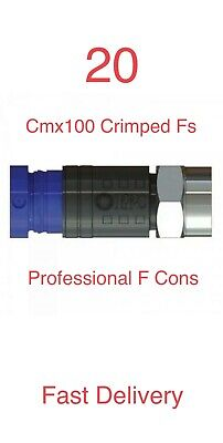 £9.95 • Buy 20 Compression F Connectors Ct100 Rg6 CMX100 For Single Cable