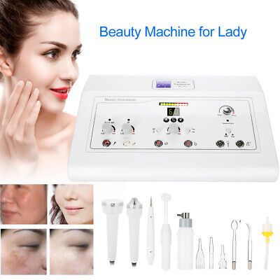 5 IN 1 Beauty High Frequency Galvanic Vacuum Spray Spa Wrinkle Removal Machine • 170.64£
