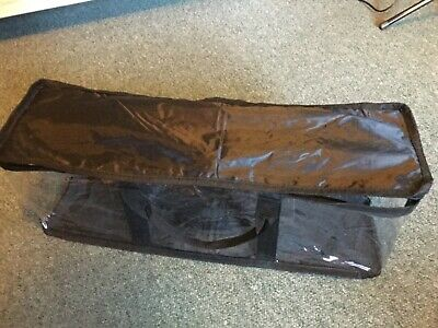 DVD And CD Storage Bag Black And Clear, With Handles Used Once • 3.50£