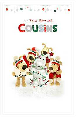 Boofle Very Special Cousins Embossed Christmas Greeting Card Cute Xmas Cards • 3.99£