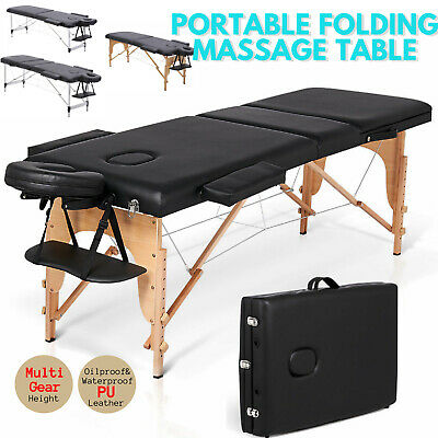Lightweight Folding Massage Table Portable Couch Bed Tattoo Beauty Salon Therapy • 67.99£