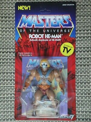 $28 • Buy Masters Of The Universe Robot He-Man Action Figure NIB Super 7 Vintage Series
