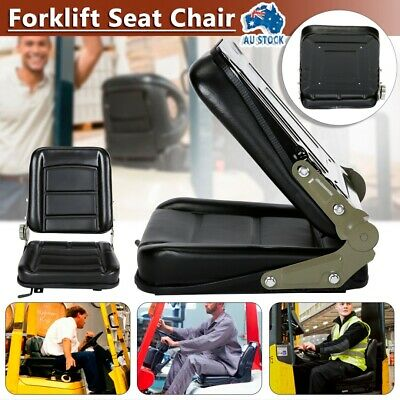 AU83.99 • Buy Forklift Seat Chair Adjustable Leather Bobcat Tractor Excavator Machinery AU