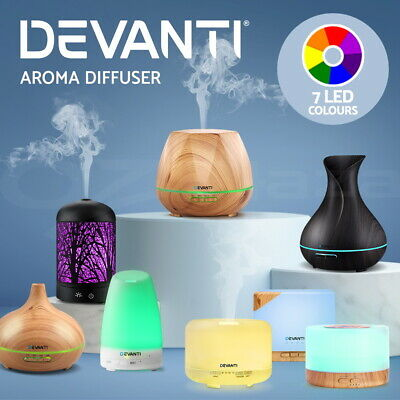 AU30.95 • Buy Devanti Aromatherapy Diffuser Aroma Essential Oil Diffuser Ultrasonic Humidifier