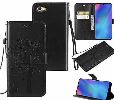 AU10.95 • Buy Oppo A59 F1s Wallet Case Embossed Pu Leather Cat And Tree