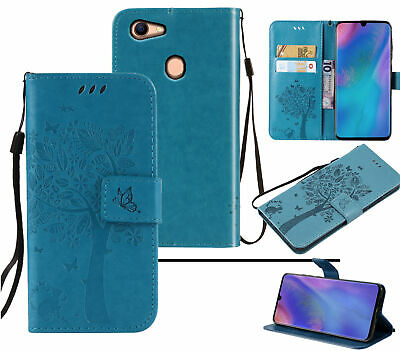 AU8.95 • Buy Oppo A73 A75 F5 Wallet Case Embossed Pu Leather Cat And Tree