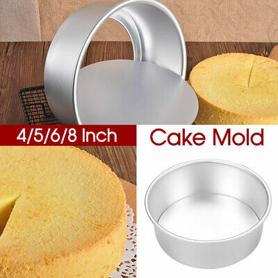 AU11.85 • Buy 4/5/6/8 Inch Cake Mould Round DIY Cakes Pastry Mould Baking Tin Pan Reusable AU
