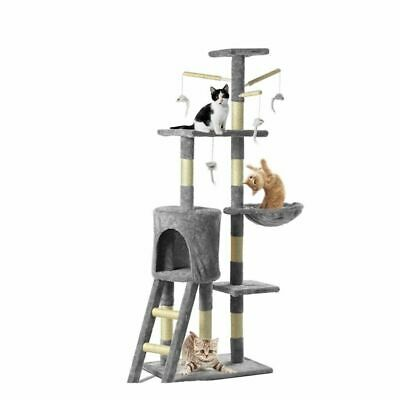 Cat Tree Tower Condo Climbing Scratching Kitten 3-Level House Cats Play Toy • 19.90£