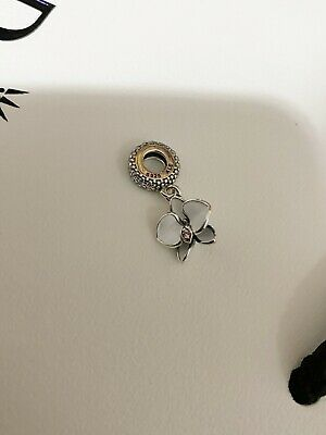 AU49 • Buy New Authentic Genuine PANDORA White Orchid Hanging Charm 791554EN12 RETIRED