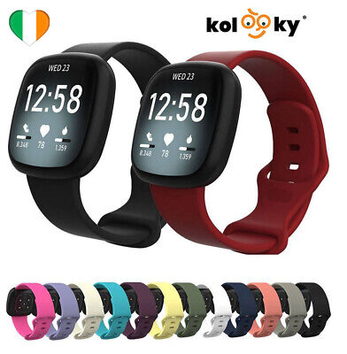 $ CDN8.22 • Buy For Fitbit Versa 3 / Sense Strap Replacement Watch Band Wristband Wrist Silicone
