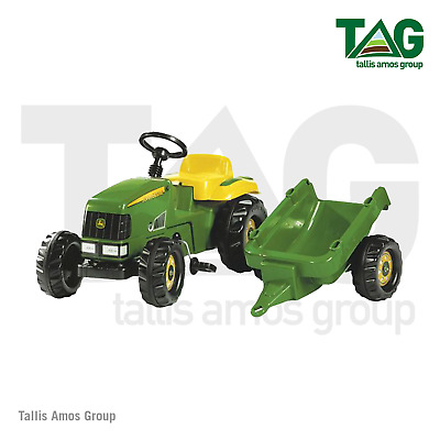 £91.75 • Buy Genuine John Deere RollyKid Childrens Pedal Tractor With Trailer - MCR012190000