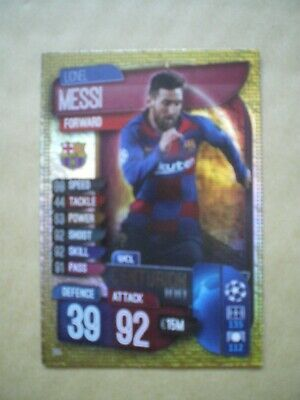 Lionel Messi, Match Attax Champions League Centurion Card, 2019/2020 • 1.30£