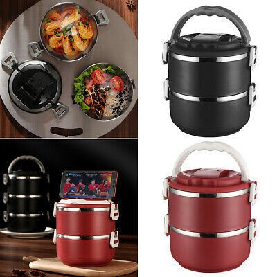 AU32.03 • Buy Kids Adults Food Warmer Container Thermo School Picnic Round Lunch Box Insulated