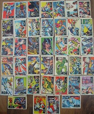 A&BC Vintage 1966 Batman Bubble Gum Collectors Trade Cards Incomplete Set • 11.50£