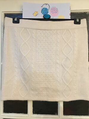 Primark Cream Knitted Skirt In XL 18-20 New Without Tags • 3£
