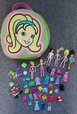 Polly Pocket Bundle, Dolls, Clothes, Accessories, Carry Bag • 7.99£