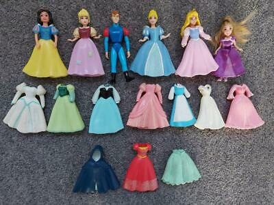 Disney Princess Polly Pocket Bundle, Dolls And Clothes • 14.50£