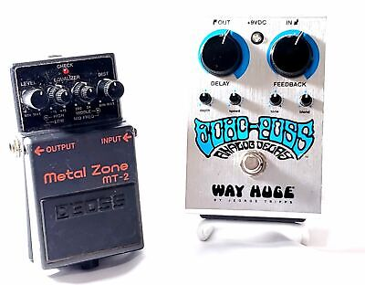 $ CDN250.63 • Buy Gently Used Guitar Pedals Boss MT2 Distortion & Way Huge Echo Puss Analog Delay