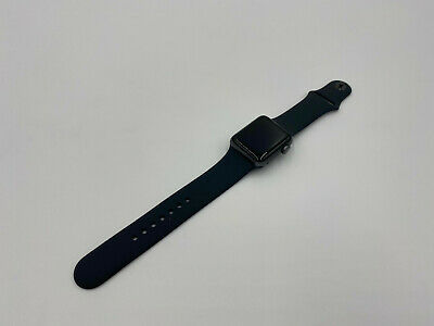 $ CDN195.50 • Buy Apple Watch Series 3 38mm Space Gray Aluminum Case Black Sport Band 23