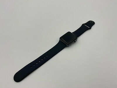 $ CDN195.50 • Buy Apple Watch Series 3 38mm Space Gray Aluminum Case Black Sport Band 25