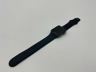$ CDN195.50 • Buy Apple Watch Series 3 38mm Space Gray Aluminum Case Black Sport Band 26