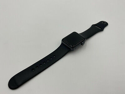 $ CDN195.50 • Buy Apple Watch Series 3 38mm Space Gray Aluminum Case Black Sport Band 31