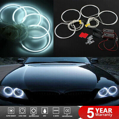 For BMW E46 CCFL Angel Eyes Light Lamps 131mm Halo Ring Non-projector White 12V • 18.99£