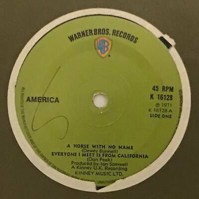 AMERICA A Horse With No Name Warner Brothers UK 1971 Ex+ Rock 7  • 3.99£