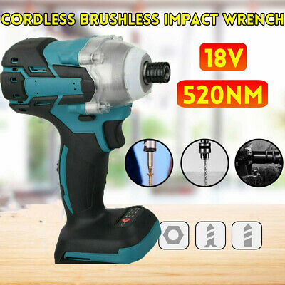18V Torque Impact Wrench Brushless Cordless Replacement For Makita Battery UK • 24.99£