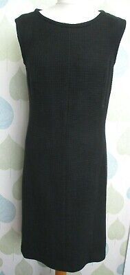 Caroline Charles Black Lined Sleeveless Dress UK 14 • 49.99£