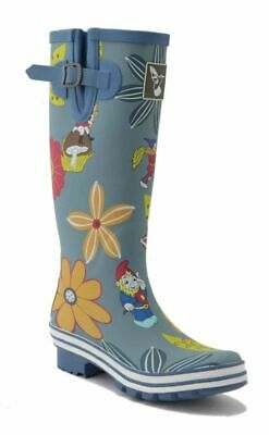 Evercreatures Ladies Wellington Boots Dahlia Flower Waterproof Vegan Wellies • 45£