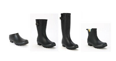 Evercreatures Ladies Wellington Boots All Black Tall, Calf Or Clog Vegan Wellies • 39£