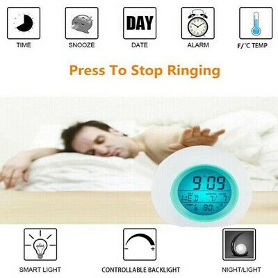 AU17.24 • Buy Changing Gift Kids Clock 7 Colors LED Light Glowing Bedroom Night Digital Alarm