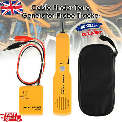 1x Cable Finder Tone Generator Probe Tracker Wire Network Tester Tracer Kit W2e • 12.86£