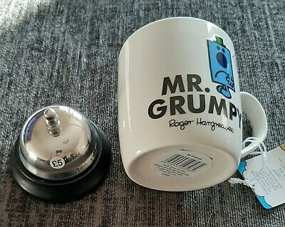 Mr Men Mr Grumpy Mug & Small Desk Service Bell Brand New Christmas Present Gift  • 5.60£