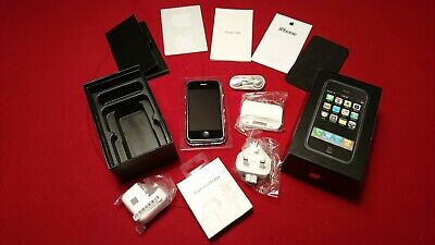 Apple IPhone 2G 4GB A1203 Handset + All Accessories Paperwork Box AT&T Rare • 899£