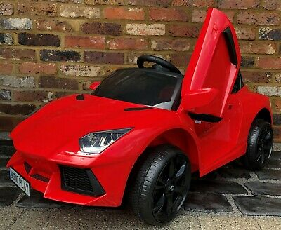 Kids Lamborghini Aventador Style Roadster 12V Battery Electric Ride On Car Red • 50£
