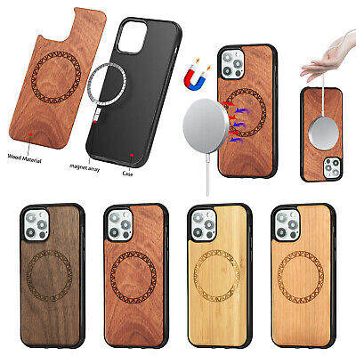 MagSafe Case For Apple IPhone 12 Natural Wooden Shockproof Classy Slim Cover • 15.99£