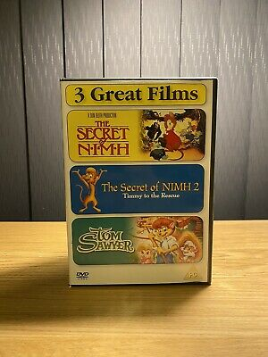 The Secret Of Nimh   The Secret Of Nimh 2   Tom Sawyer DVD 3-Disc Collection • 12.99£