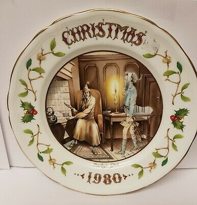 Aynsley Collectors Plate CHRISTMAS 1980 From A Christmas Carol • 9.99£