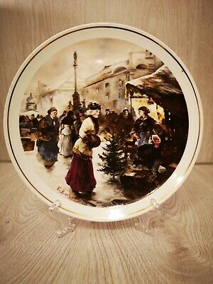 Christmas Themed Decorative Plates  Christmas Market  Hammersly Bone China • 10£