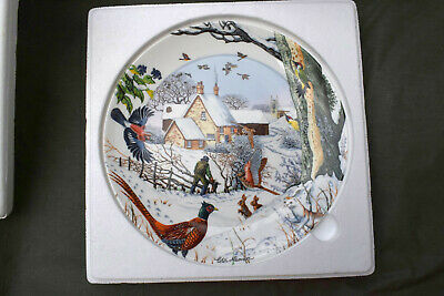 WEDGWOOD WALL PLATE -  Woodsman  - Mint / Collectors (boxed)  • 14.90£