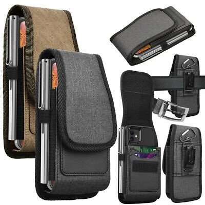$ CDN11.11 • Buy Cell Phone Holster Nylon Belt Clip Carrying Pouch Card Holder Wallet Case Cover