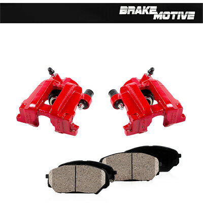 $242.58 • Buy For FORD ESCAPE MAZDA TRIBUTE MARINER Rear Red Coated Brake Calipers & Pads