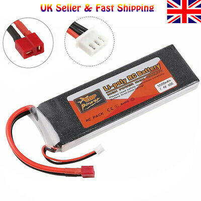 ZOP Power 5500mAh 2S LiPo Battery 7.4V 60C T Plug For RC Car Airplane Helicopter • 23.99£